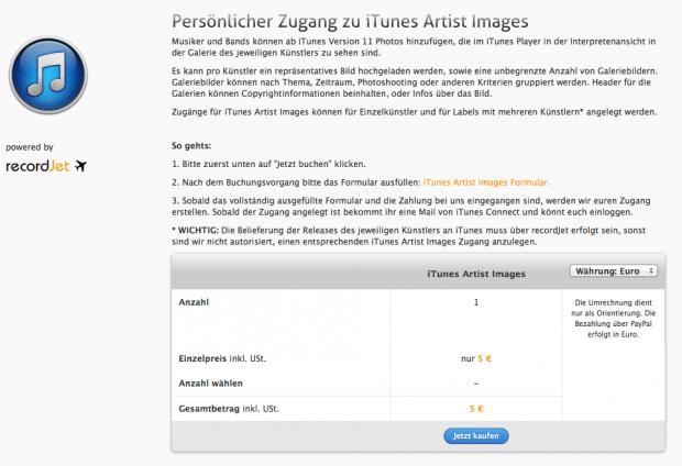 iTunes Artist Images | recordJet Service