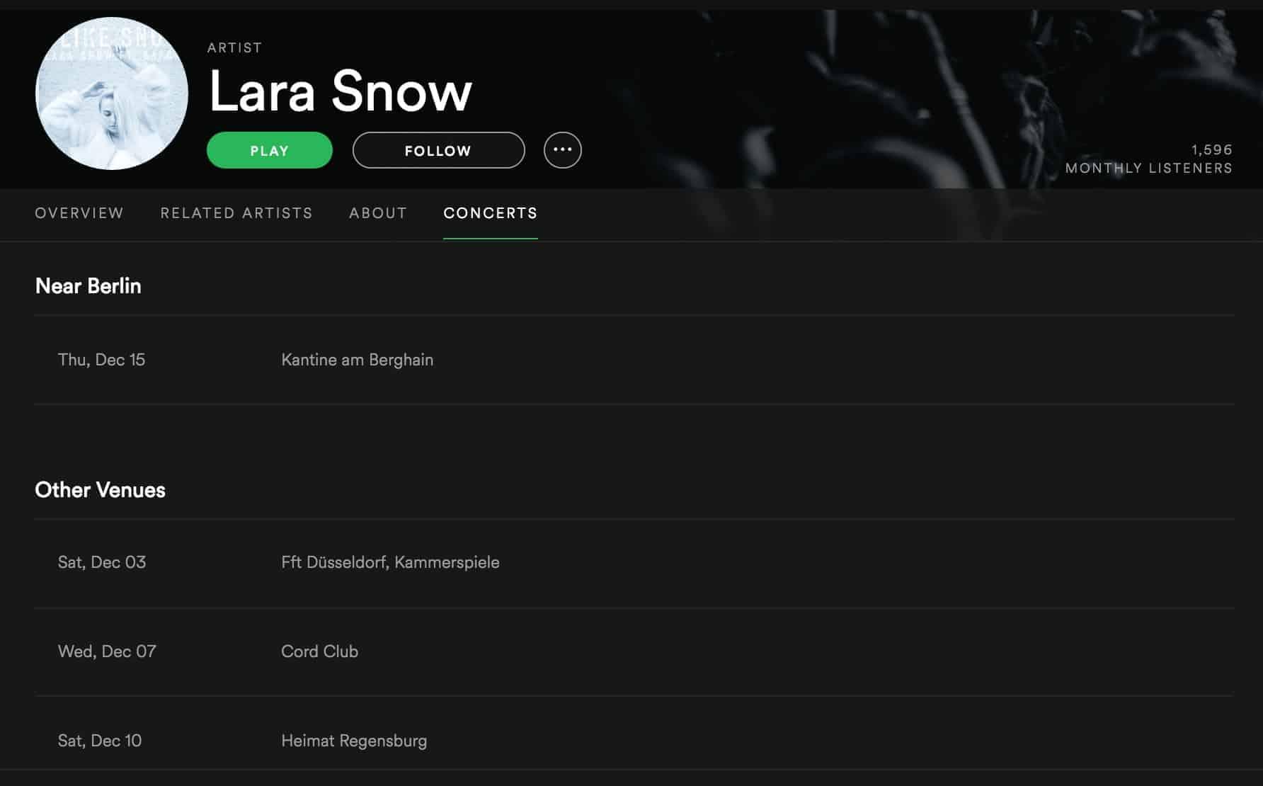 Lara Snow Tour | recordJet