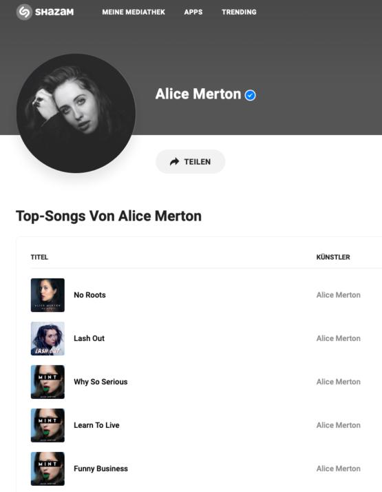 Alice Merton on Shazam