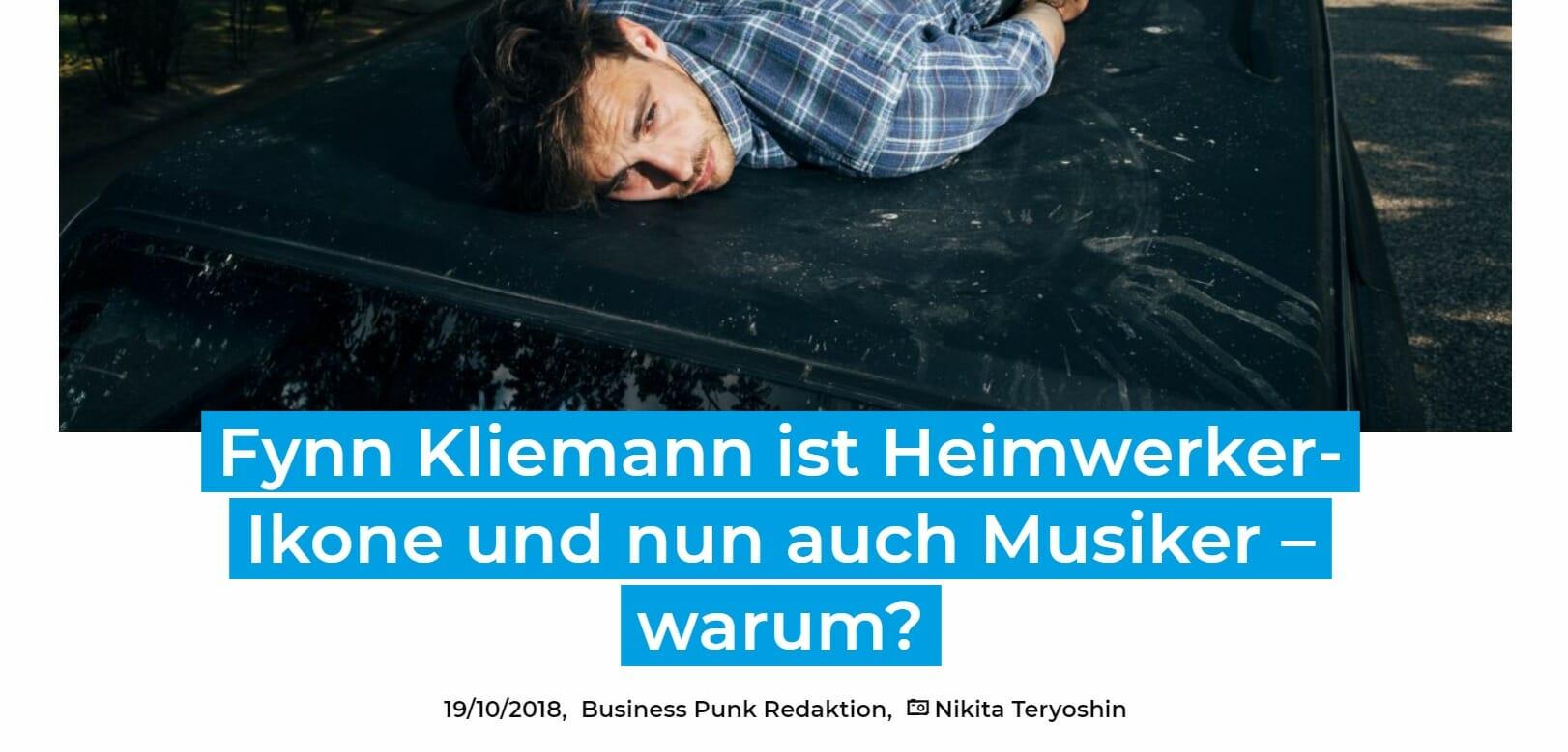 Fynn Kliemann auf Business Punk